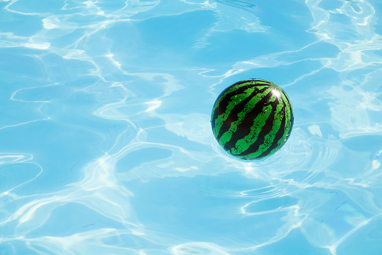 kids party games, watermelon, pool