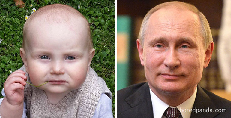 babies who look like celebrites - vladamir putin