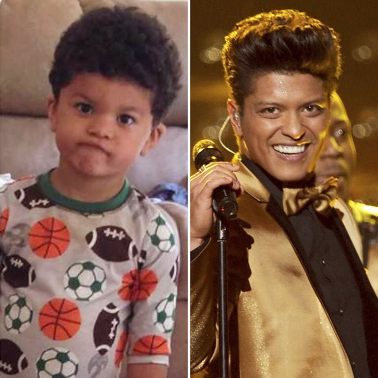 Celebrity lookalike babies - bruno mars
