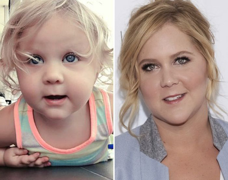 Celebrity baby lookalike Amy Schumer