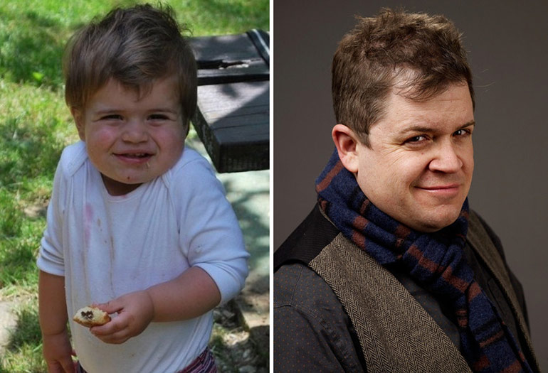 celebrity baby lookalike Patton Oswalt