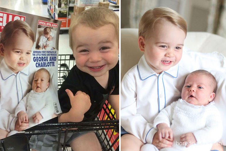 babies that look like celebrites - Prince George