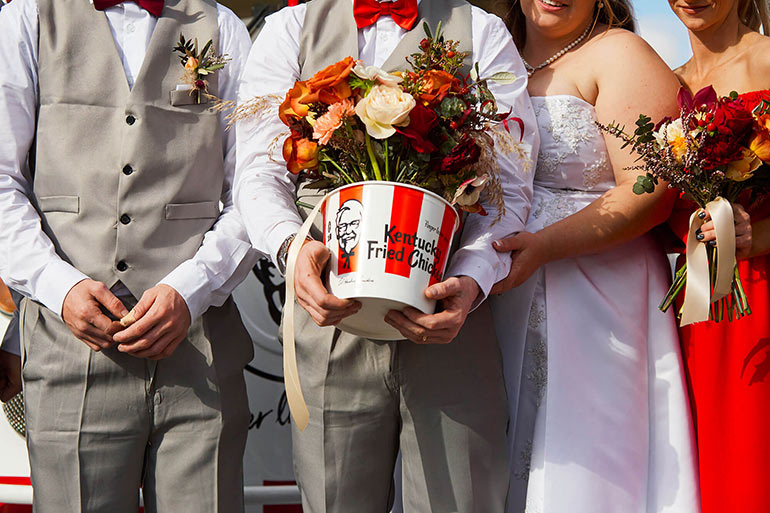 KFC weddings with all the trimmings