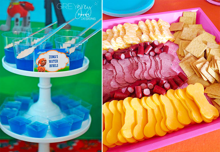 Paw-patrol-themed kids party food