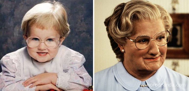 babies that look like celebrites - Mrs Doubtfire