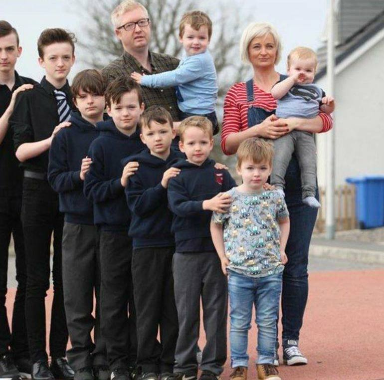 large family mum to 10 boys gives birth to daughter