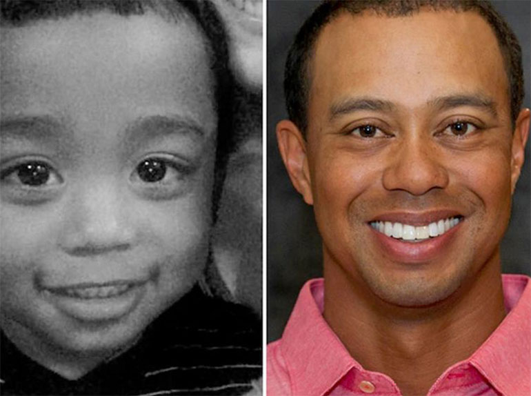 tiger woods baby lookalike