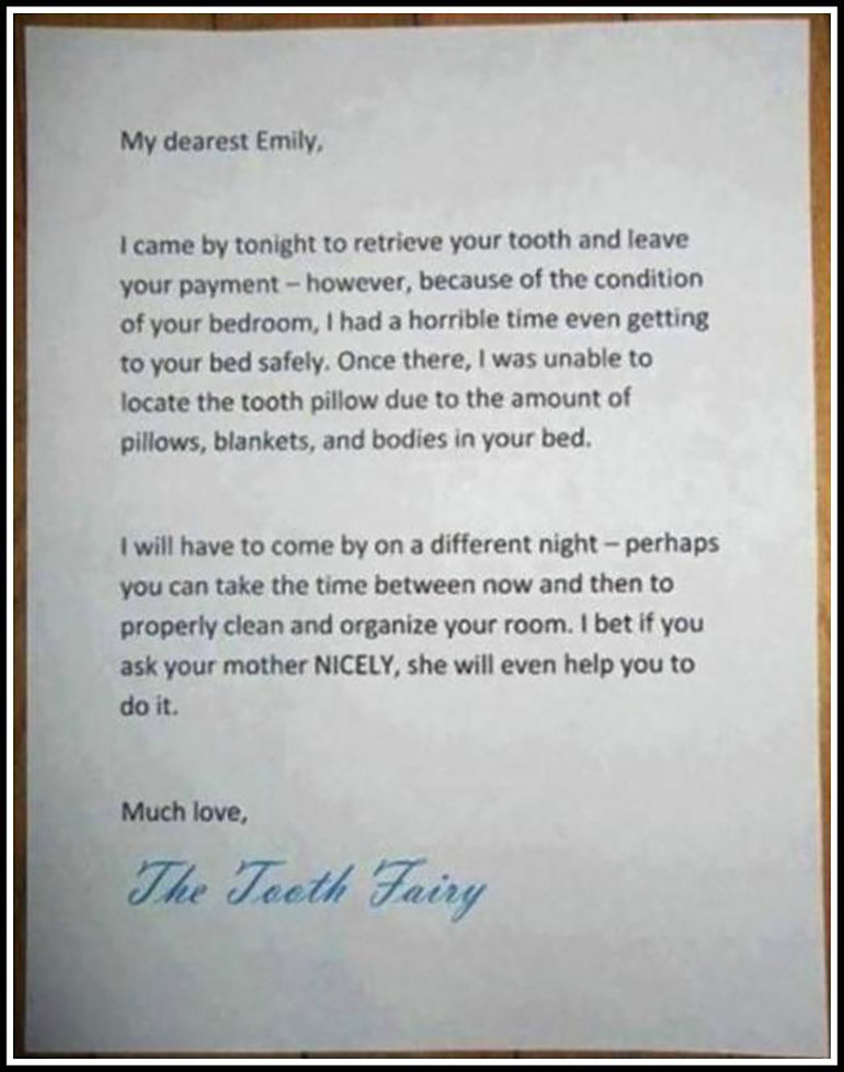 funny tooth fairy notes