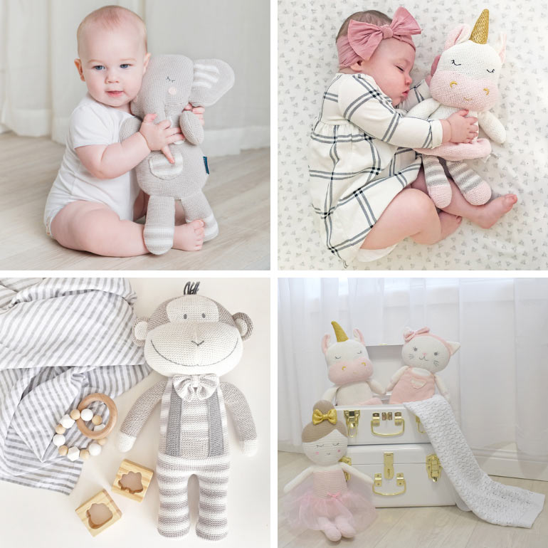 Living Textiles soft toys - Christmas gifts for babies