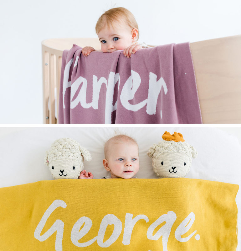 Namely and Co keepsake blankets Christmas gifts for babies