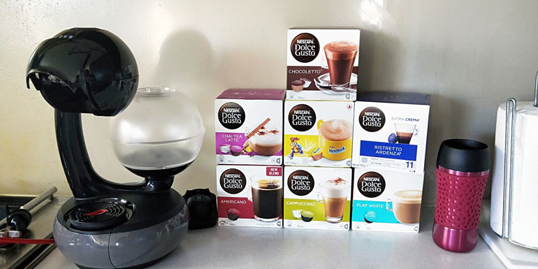 NESCAFÉ dolce gusto esperta coffee machine plus pod selection