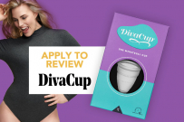 DivaCup Menstrual Cup apply to review