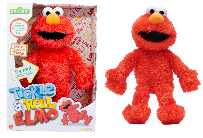 tickle and roll elmo - toddler and preschooler christmas gifts