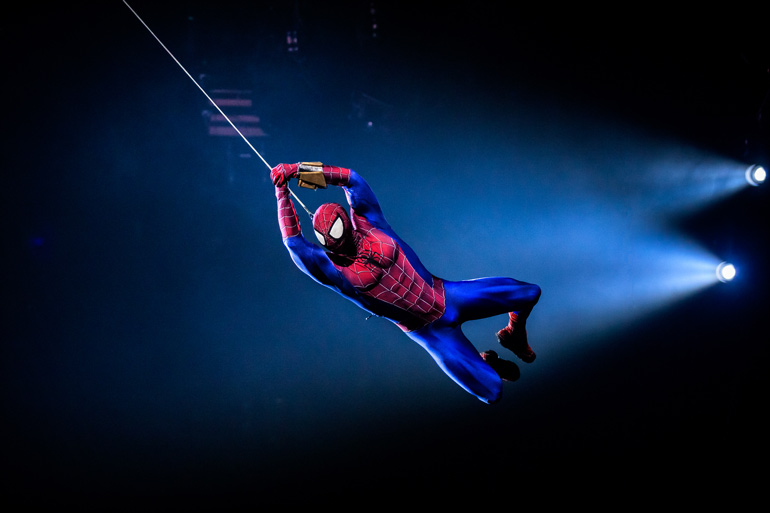 Marvel Universe LIVE Spiderman in action