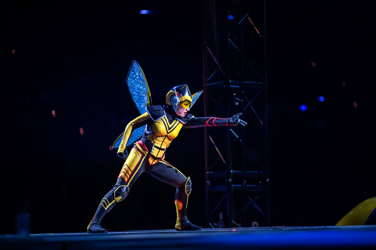 The Wasp on stage at Marvel Universe LIVE