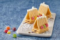 Mini Christmas house biscuit recipe