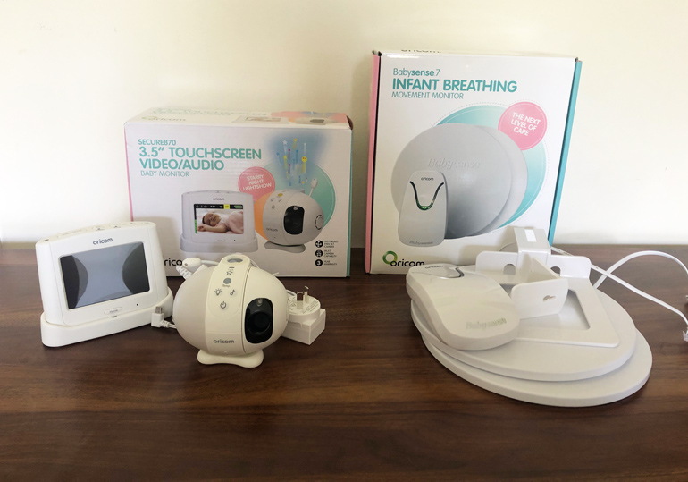 Oricom Babysense 7 breathing plus video monitor