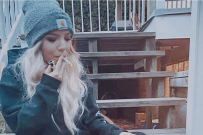 Caitlyn Fladager smoking weed mum