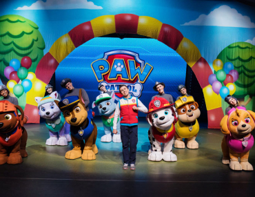 Paw Patrol Live 2020 on stage