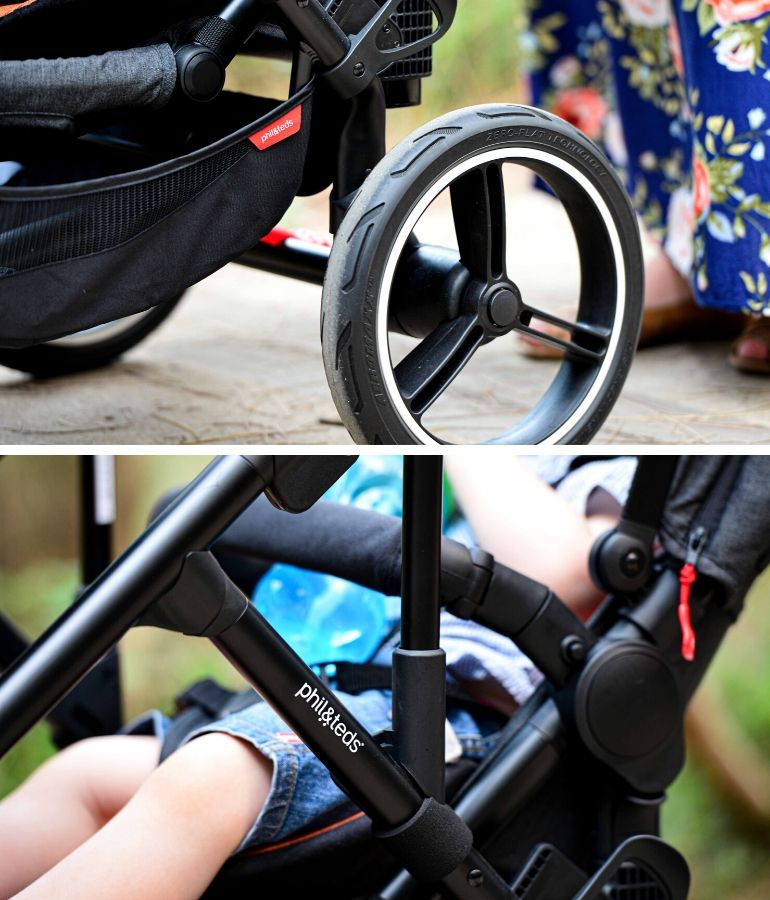 Voyager pram features