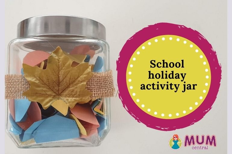 School holiday activity jar