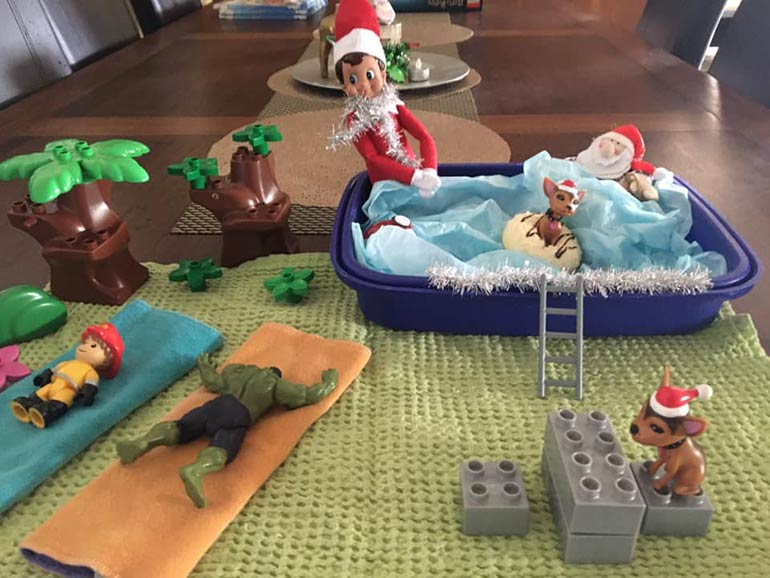 Elf Pool Party