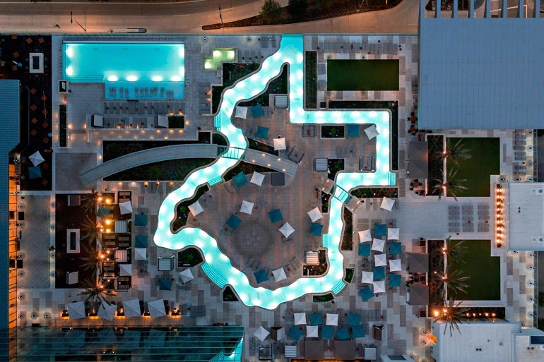 Marriot Houston Texas hotels with a lazy river