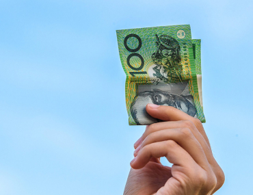 money holding Australian currency