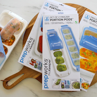 Save Money, Time and Food Waste with Progressive ProKeeper Freezer Portion Pods