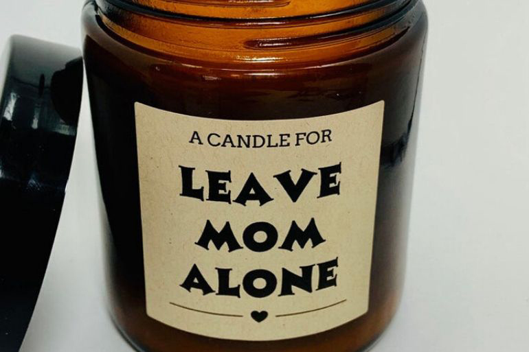 leave mum alone candle