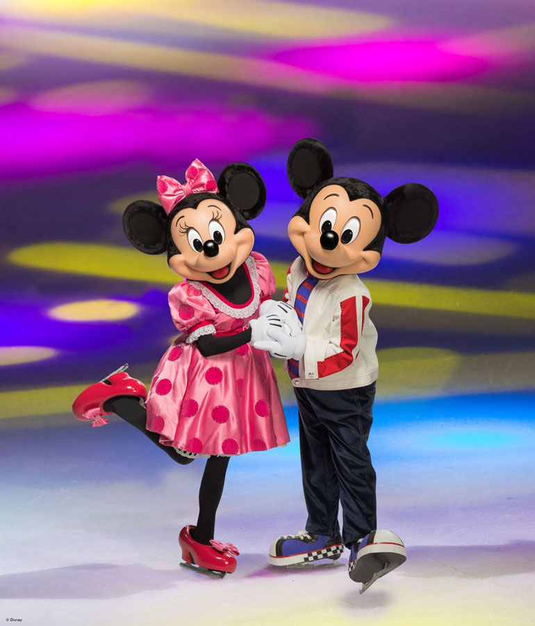Mickey and Minnie Mouse from Disney on Ice presents Dare to Dream