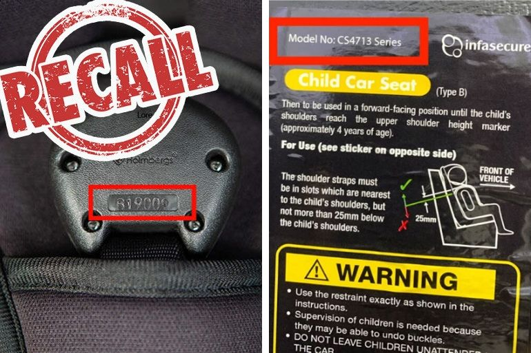 Infasecure car seat recall
