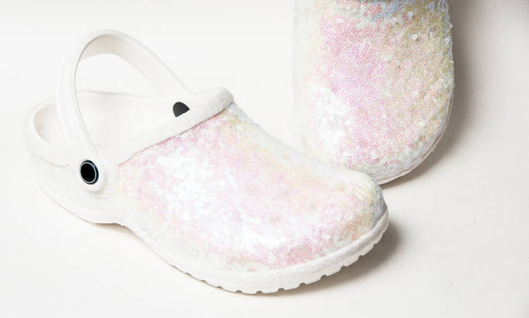 bridal crocs for your wedding day