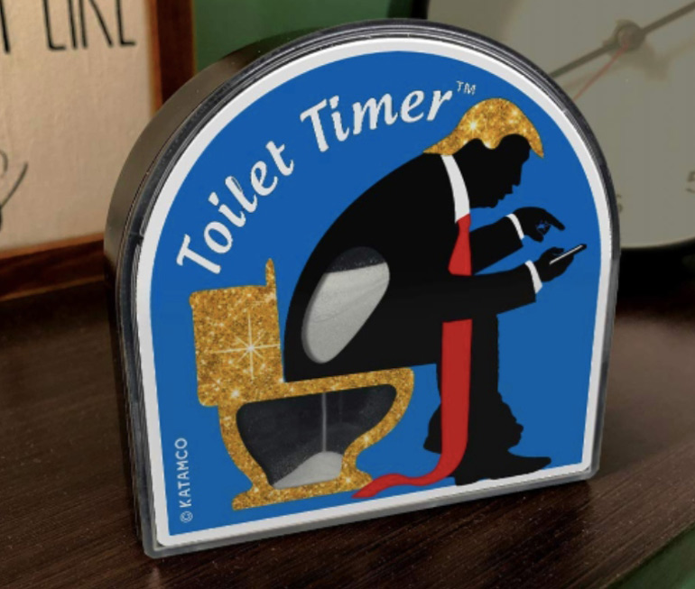 Toilet timer for dads who poo-crastinate