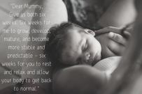 Dear Mummy - newborn letter