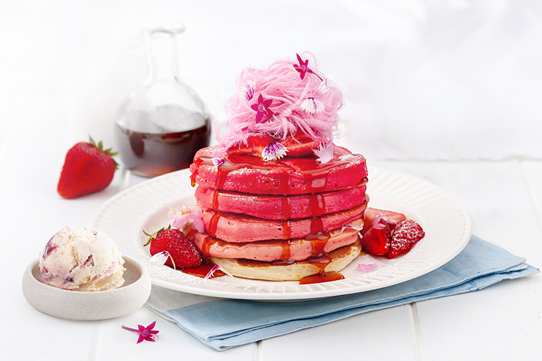 fairy floss pancakes recipe
