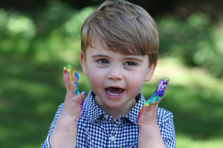 Prince Louis turns two