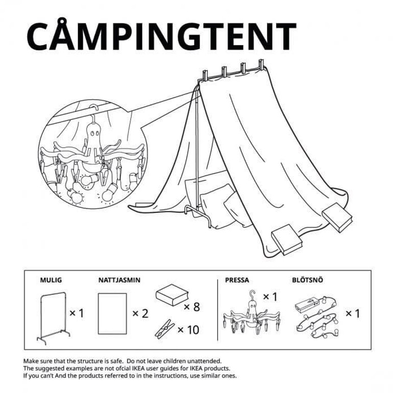Ikea fort building instructions