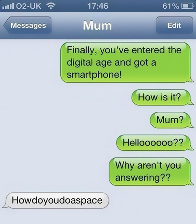 funny mum text messages