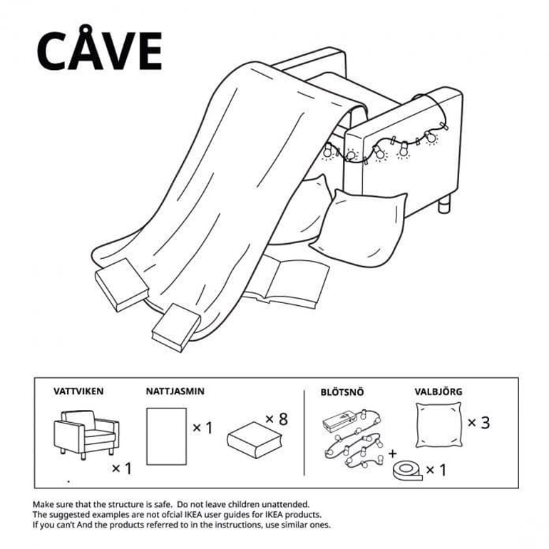 Ikea fort building instructions - cave