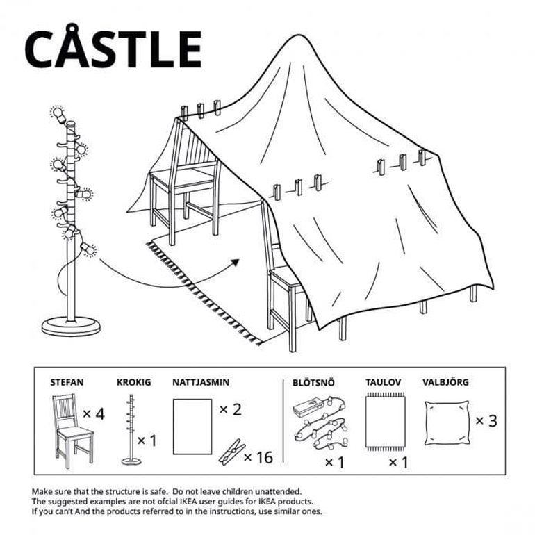 Ikea fort building instructions - castle