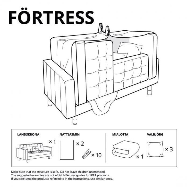 Ikea fort building instructions - fortress