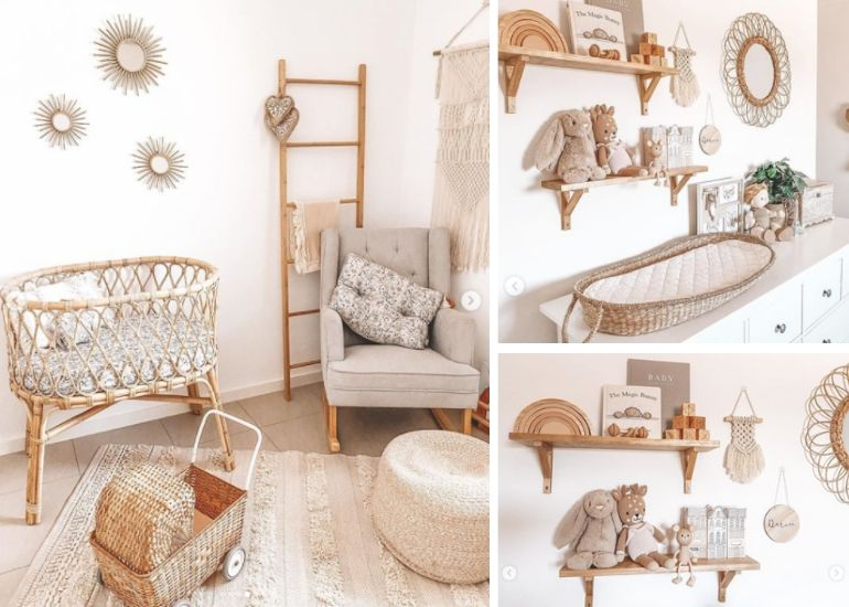 Little Darcie's boho inspired room is just as pretty, even if she doesn't sleep in it. Source: Instagram