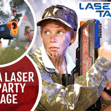 WIN: The Ultimate Backyard Party with Laser Tag in a Box