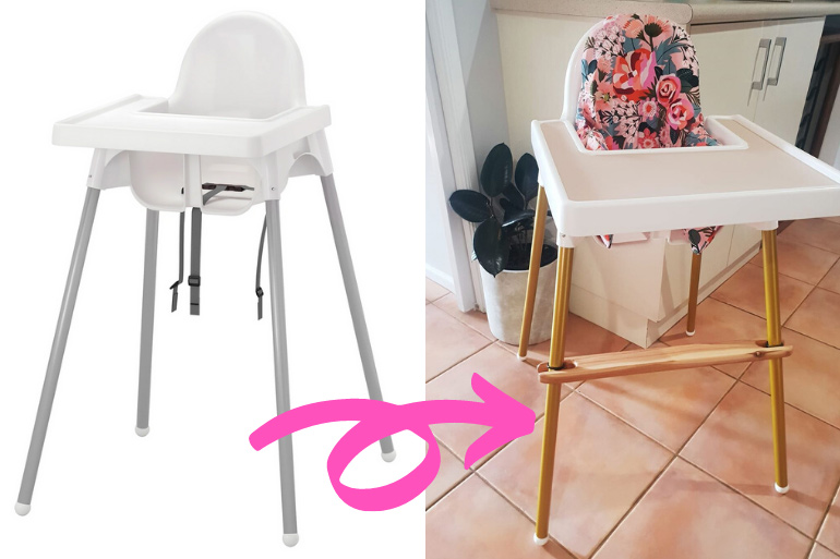 Mum Customises IKEA Highchair with a Stunning Makeover