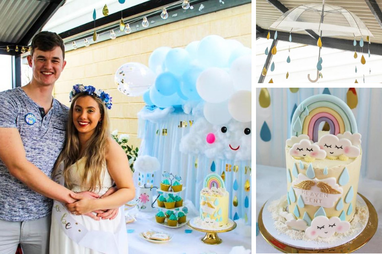 raindrop theme baby shower