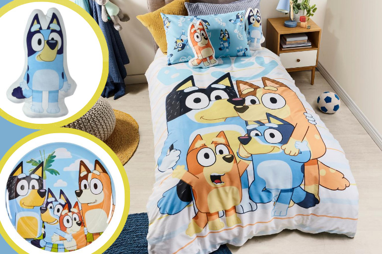 Bluey bedding and accessories