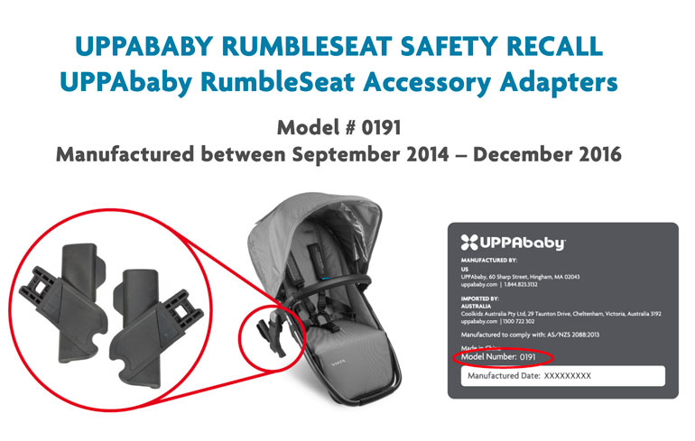 UPPAbaby RumbleSeat recall