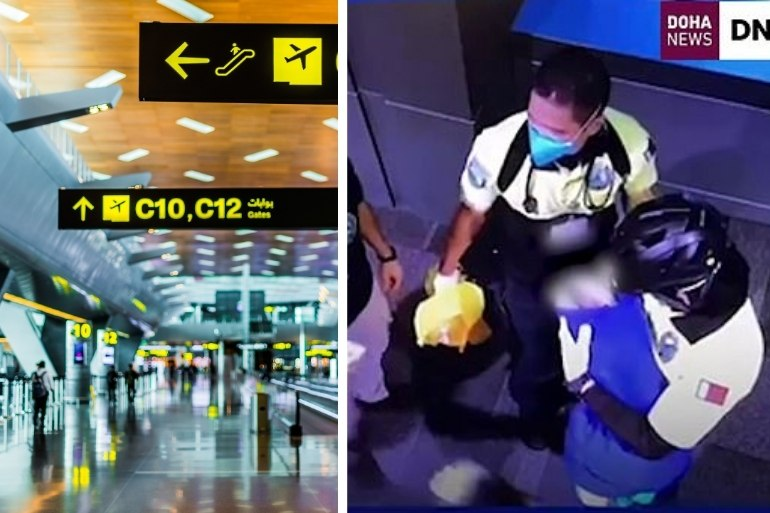 qatar airport newborn found
