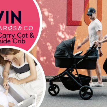 WIN: Stroll in Style, Sleep in Comfort with Oscar Mx Pram and SnüzPod4 Bedside Crib